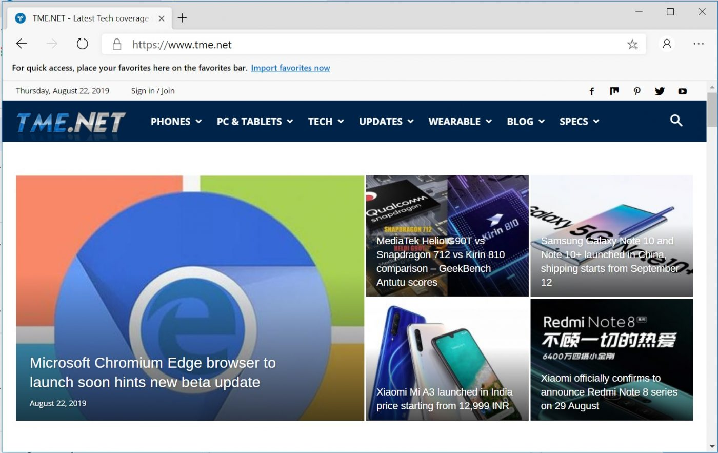 Microsoft Chromium Edge browser to launch soon hints new