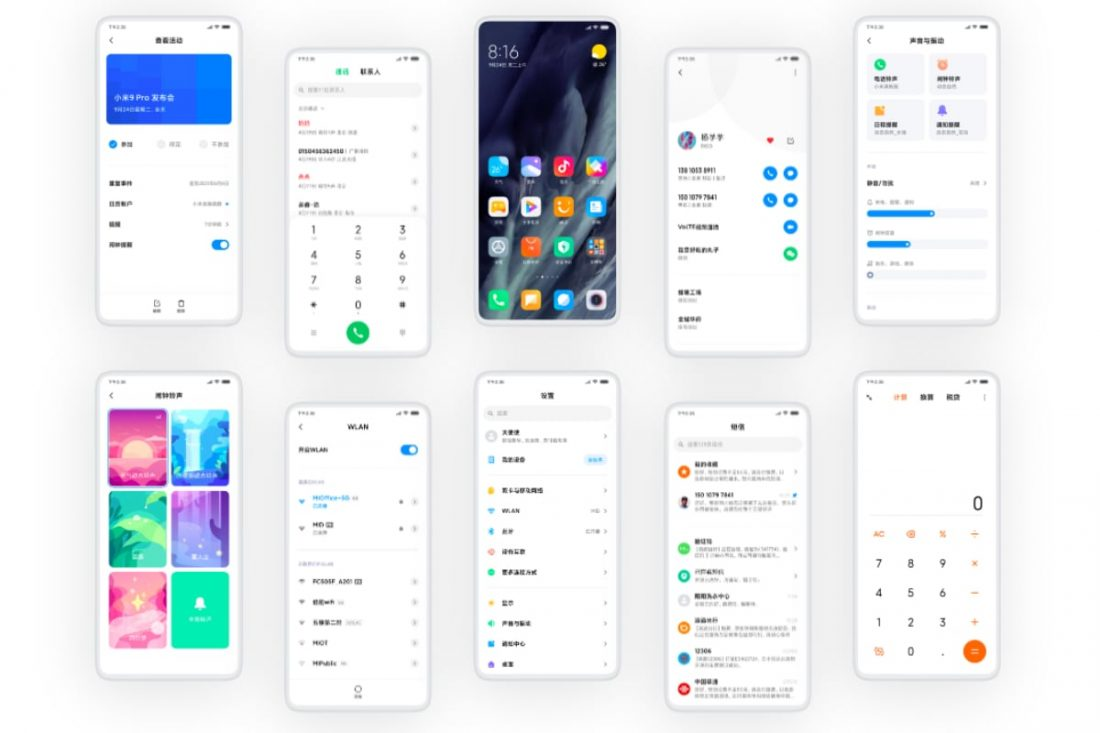 MIUI 11 user interface