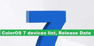 Color OS 7 oppo realme devices list, release date